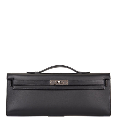 Hermes Black Swift Kelly Cut Palladium Hardware