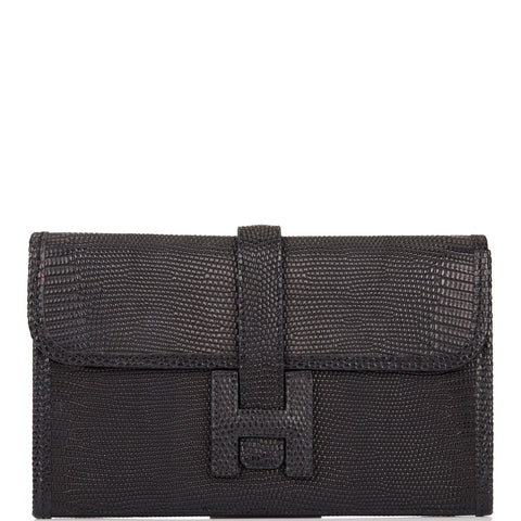 Hermes Black Lizard Mini Jige 20cm (Preloved - Excellent)