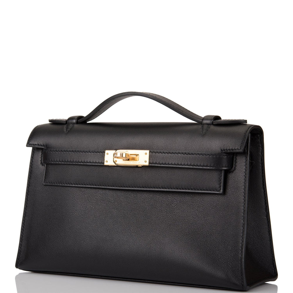 Hermes Black Swift Mini Kelly Pochette