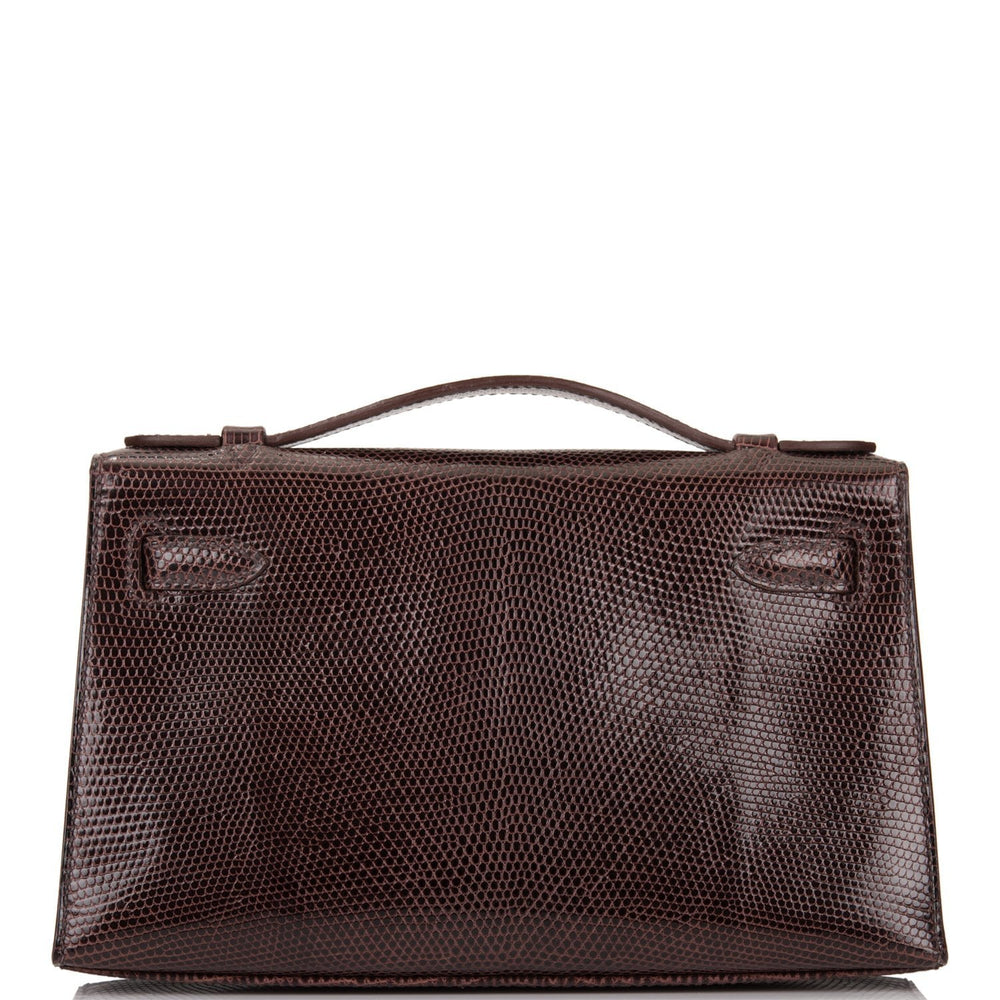 Hermes Cocoan Shiny Lizard Mini Kelly Pochette