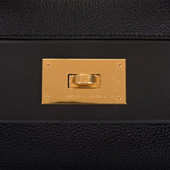 Hermes Black 24/24 Bag 35cm Gold Hardware