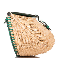 Hermes Vert Vertigo Swift and Osier Wicker Picnic Fishing Bag