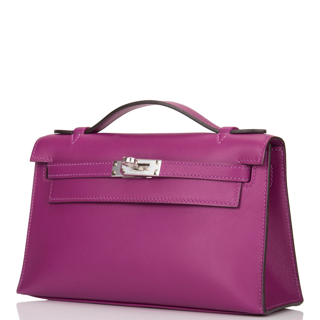 Hermes Anemone Swift Mini Kelly Pochette Palladium Hardware