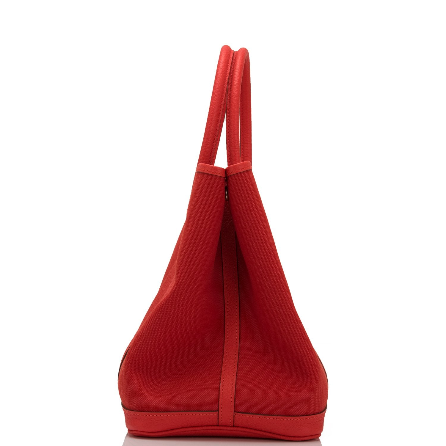 Hermes Rouge Tomate and Capucine Canvas Garden Party 36cm