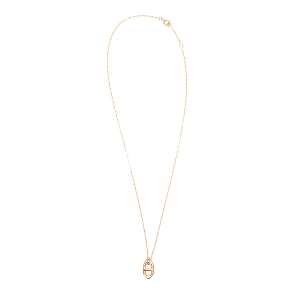 Hermes Rose Gold Farandole Pendant Necklace PM