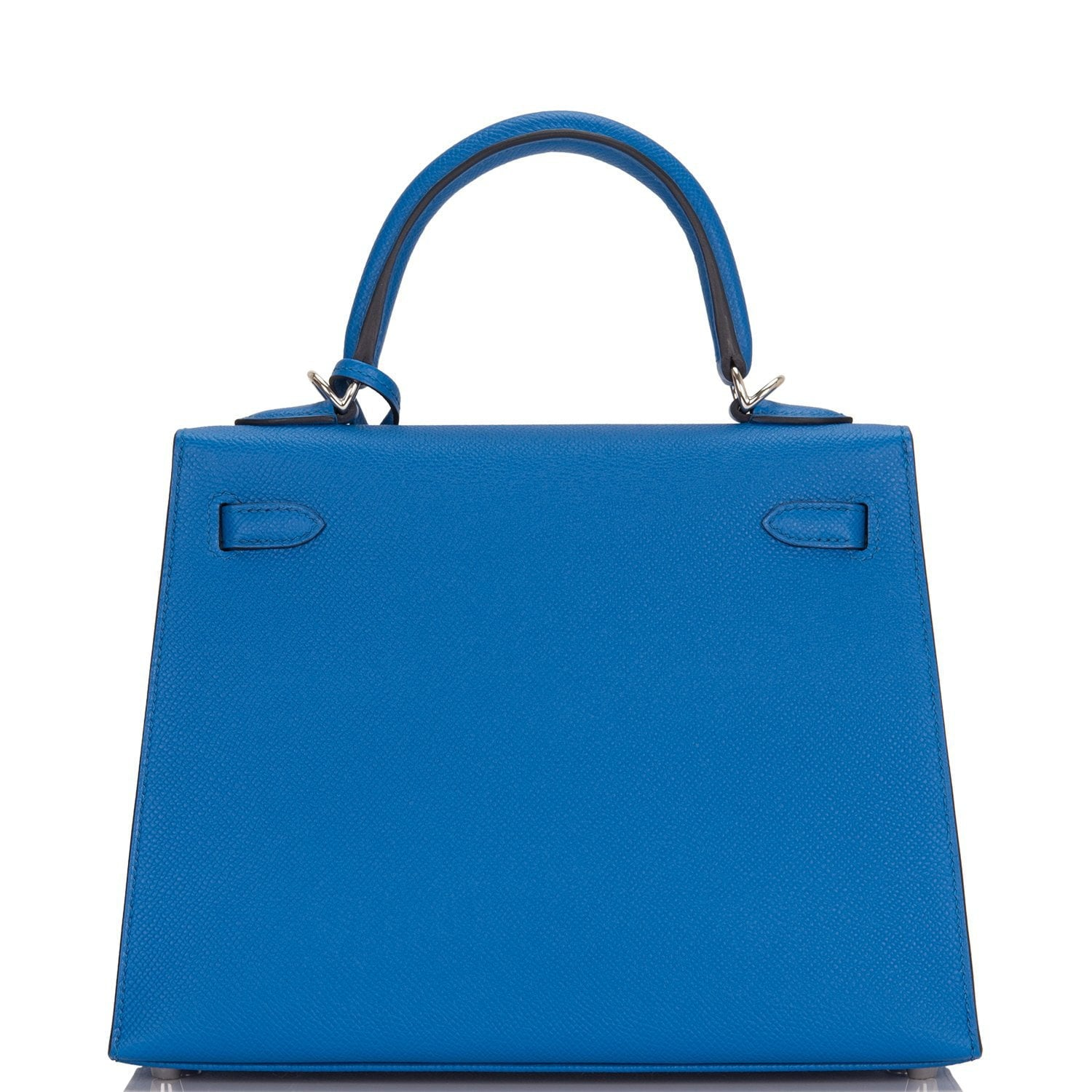 Hermes Blue Zellige Epsom Sellier Kelly 25cm Palladium Hardware