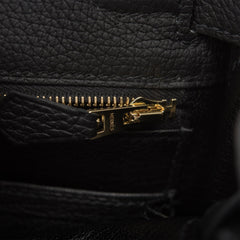Hermes Black Togo Retourne Kelly 25cm Gold Hardware