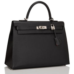 Hermes HSS Black And Rouge Casaque Epsom Sellier Kelly 35cm