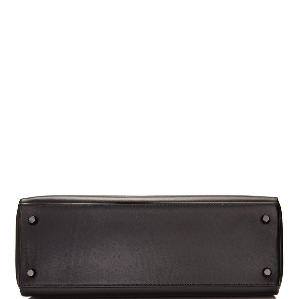 Hermes SO Black Box Retourne Kelly 32cm Black Hardware (Preloved - Mint)