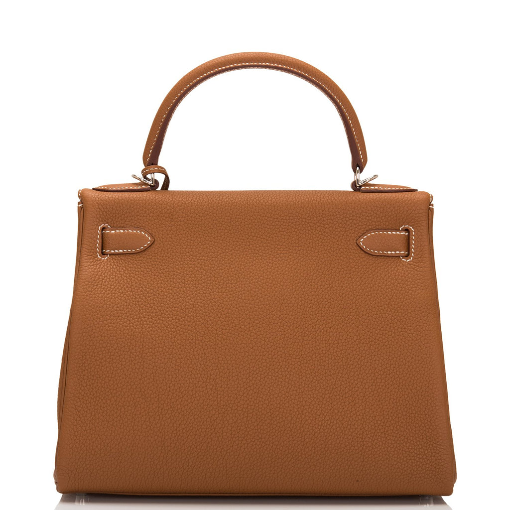 Hermes Gold Togo Kelly 28cm Palladium Hardware