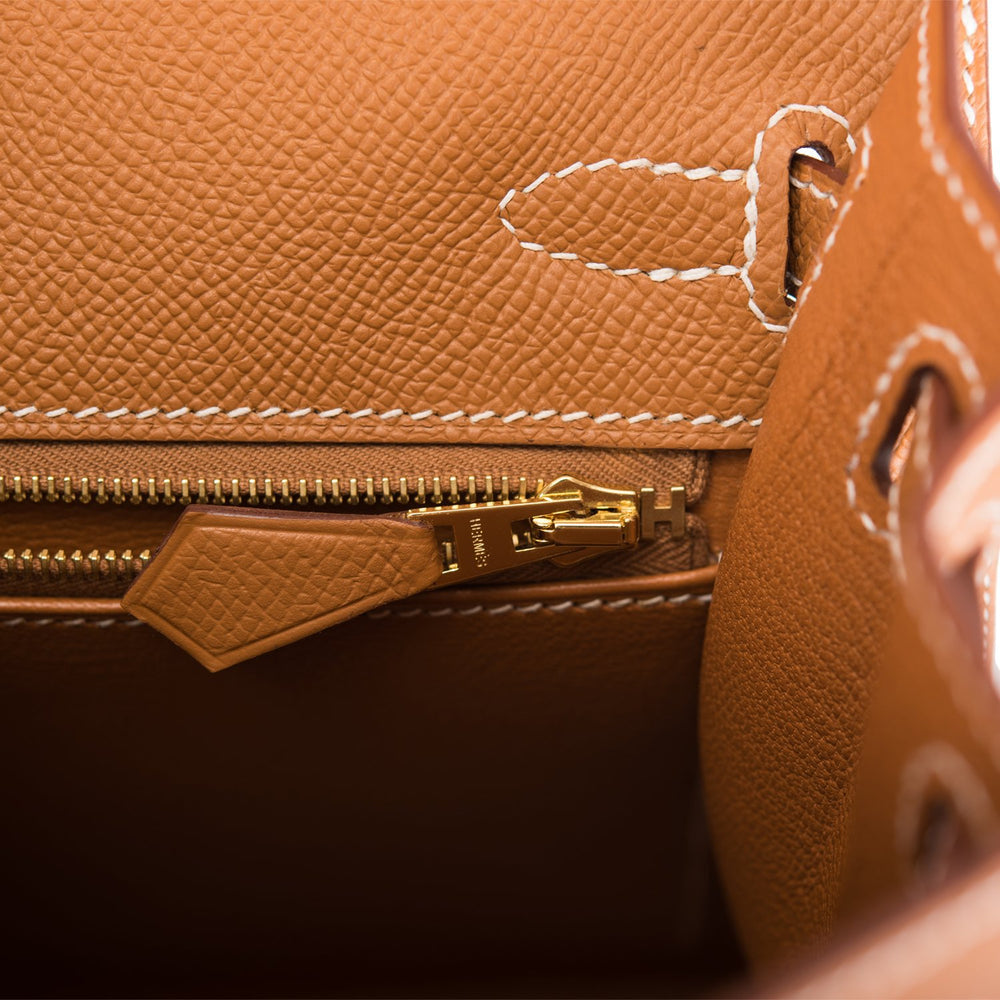 Hermes Gold Epsom Sellier Kelly 25cm Gold Hardware
