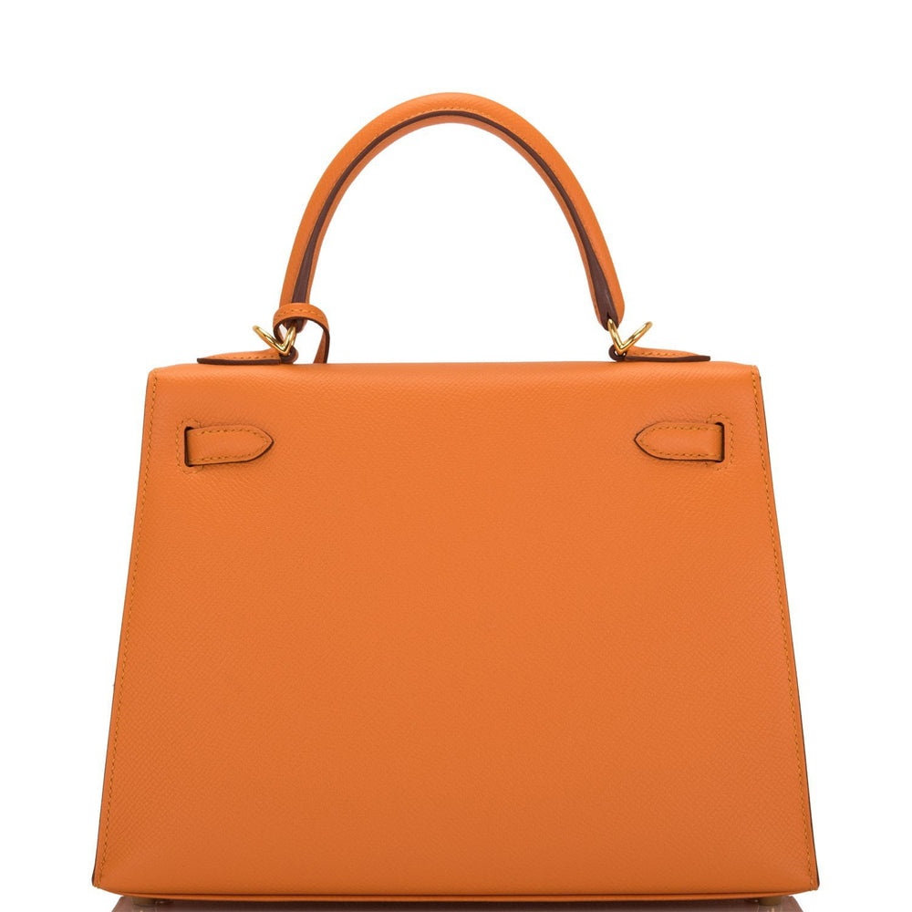Hermes Abricot Epsom Sellier Kelly 25cm Gold Hardware
