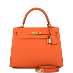 Hermes Feu Epsom Sellier Kelly 25cm Gold Hardware