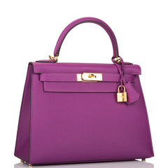 Hermes Anemone Epsom Sellier Kelly 28cm Gold Hardware