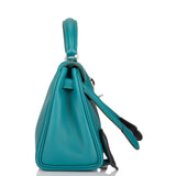 "Hermes Malachite Swift Kelly ""Quelle Idolle"" Kelly Doll Palladium Hardware"