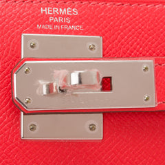 Hermes Rose Jaipur Epsom Sellier Kelly 28cm Palladium Hardware
