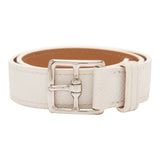 Hermes White Epsom Leather Double-Wrap Etriviere Bracelet