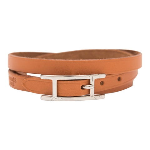 6015621257 Hermes Barenia Leather Hapi 3 GM Bracelet (Preloved - Mint)