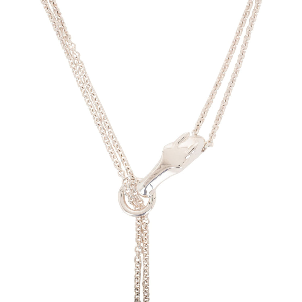 Hermes Sterling Silver Galop Long Rope Necklace GM