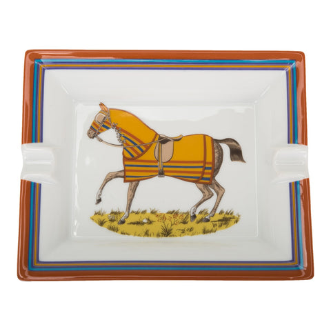 Hermes Chevaux à La Couverture 2 Ashtray