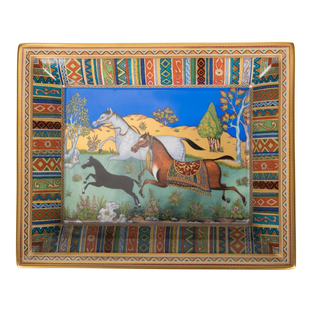 "Hermes ""Cheval D'Orient"" Porcelain Change Tray"