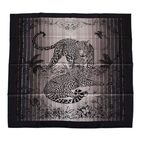 "Hermes ""Jungle Love Rainbow"" Silk Twill Scarf 90cm"