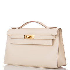 Hermes HSS SO Craie Epsom Mini Kelly Pochette