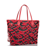 Louis Vuitton x UF Black and Red Tufted Monogram Neverfull MM