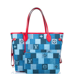 Louis Vuitton Denim Patchwork Monogram Neverfull MM