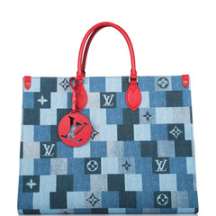 Louis Vuitton Denim Patchwork Monogram OnTheGo Tote
