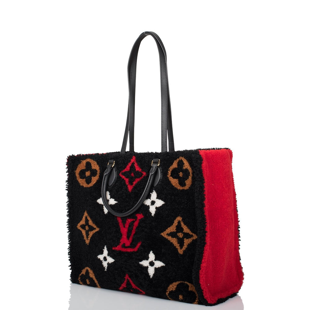 Louis Vuitton Teddy Monogram Shearling OnTheGo Tote