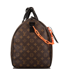 Louis Vuitton x Virgil Abloh Monogram Keepall Bandouliere 50