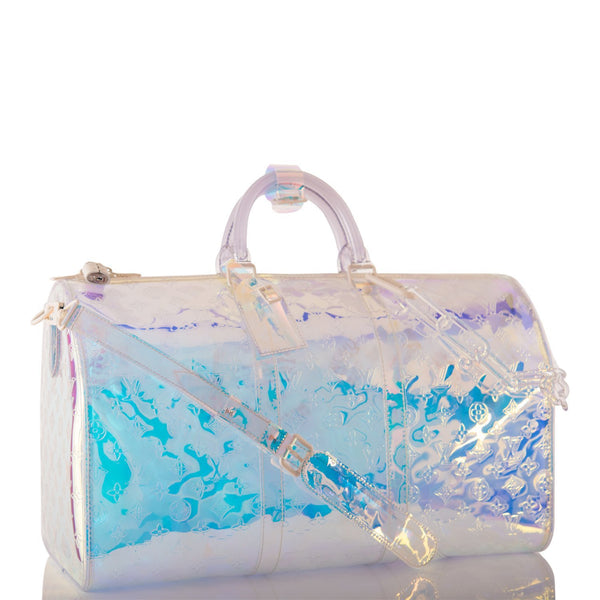 Louis Vuitton x Virgil Abloh Iridescent Prism Monogram Keepall Bandouliere 50