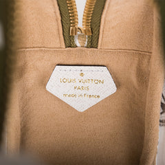 Louis Vuitton Khaki Giant Monogram Beach Pouch