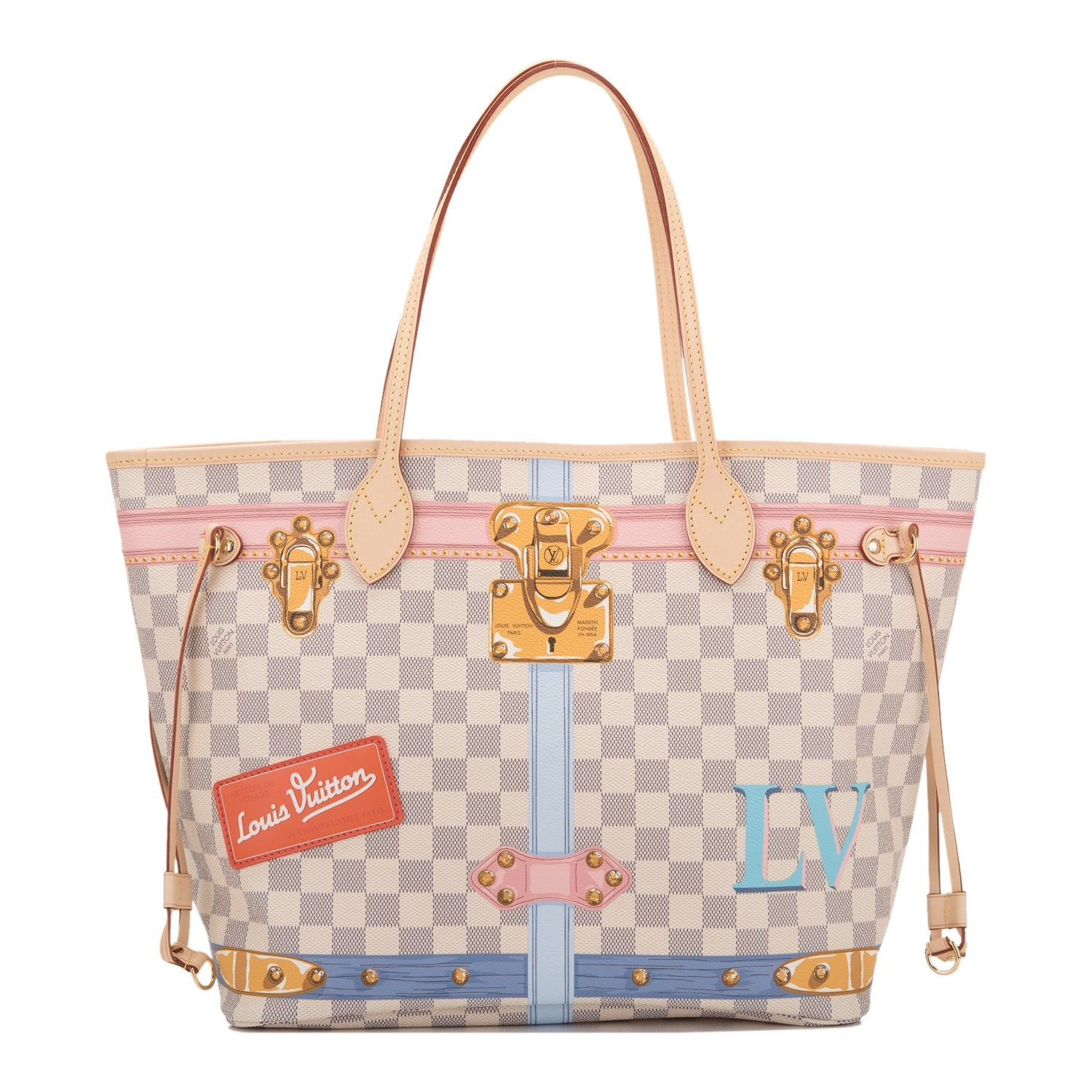 29aab223a027 Louis Vuitton Damier Azur Summer Trunk Neverfull MM – Madison Avenue ...