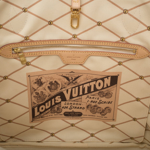 Louis Vuitton Damier Azur Summer Trunk Neverfull MM