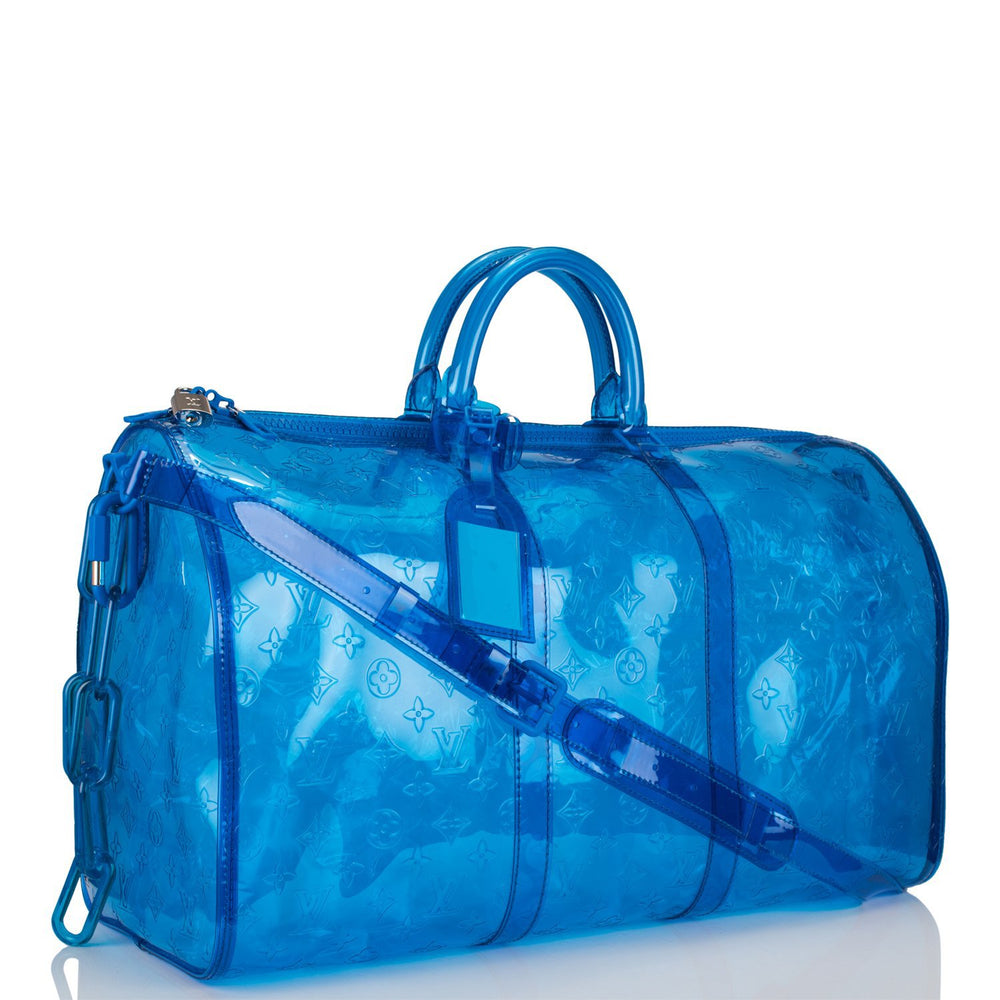 Louis Vuitton x Virgil Abloh Blue RGB Monogram PVC Keepall Bandouliere 50