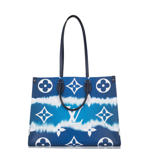 Louis Vuitton Blue Escale Monogram OnTheGo GM Tote