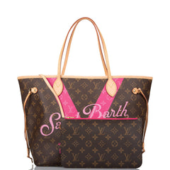 Louis Vuitton Pink Monogram V St. Barth Neverfull MM