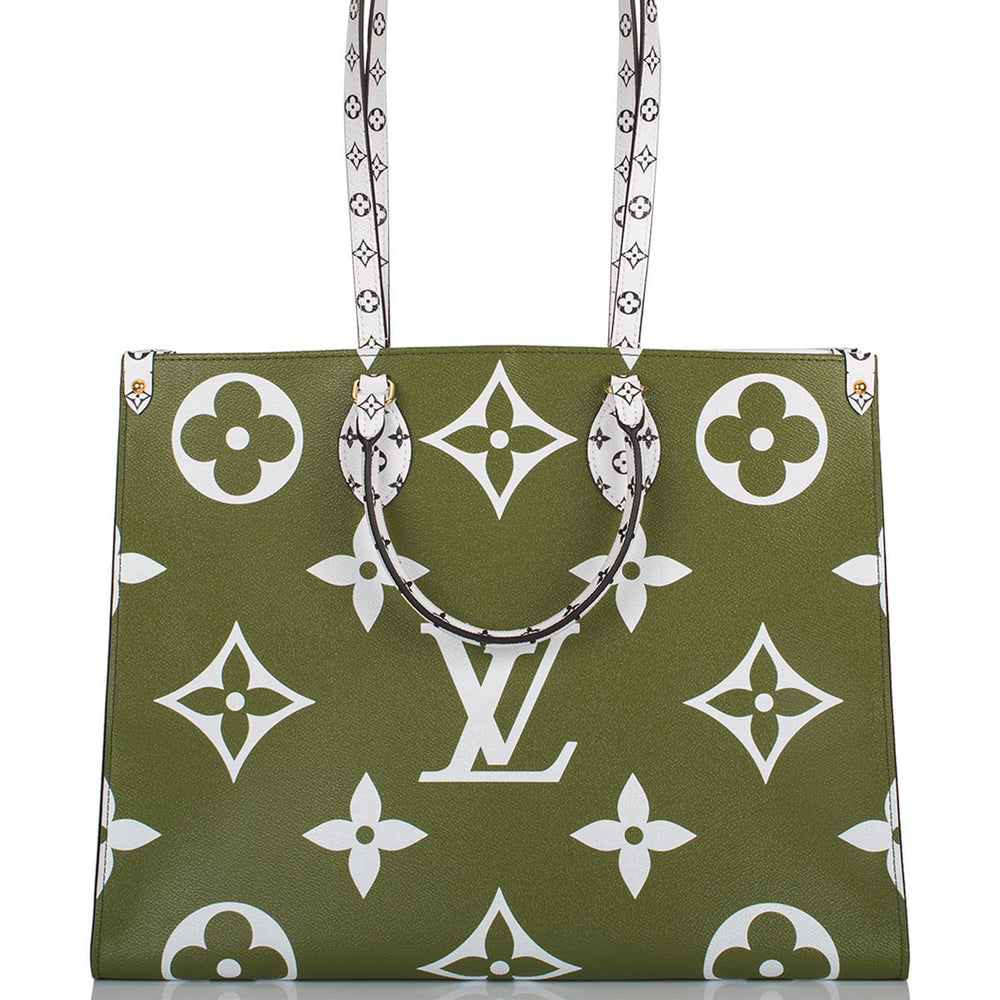 Louis Vuitton Giant Khaki Monogram OnTheGo Tote