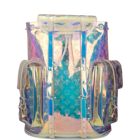 Louis Vuitton x Virgil Abloh Iridescent Prism Monogram Christopher Backpack GM