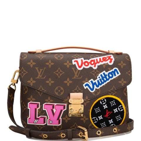 Louis Vuitton Monogram Patches Pochette Metis