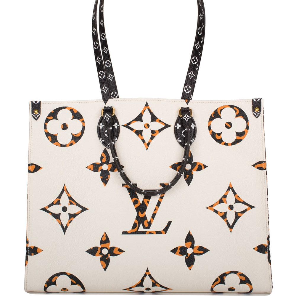 Louis Vuitton Ivory Giant Monogram Jungle OnTheGo Tote