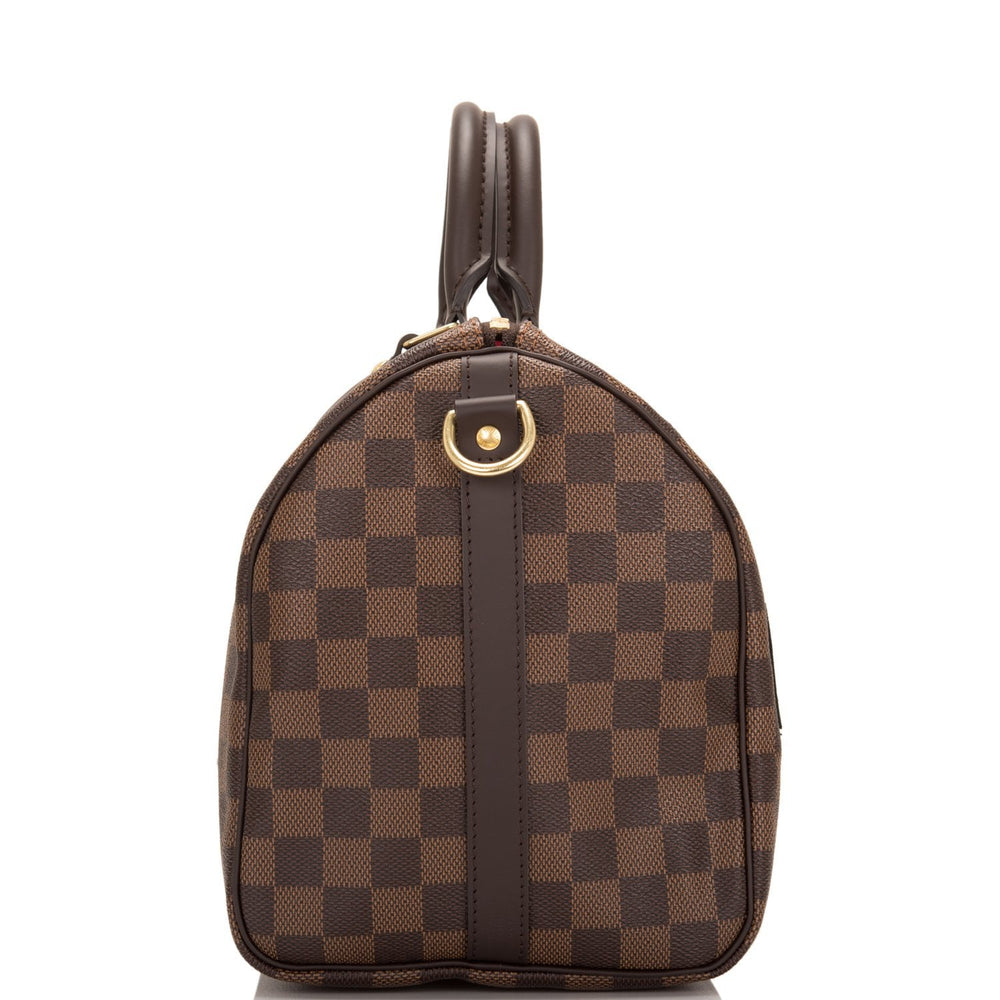 Louis Vuitton Damier Ebene Patches Speedy 30 Bandouliere