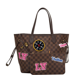 Louis Vuitton Damier Ebene Patches Neverfull MM