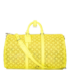 Louis Vuitton Yellow Mesh Monogram Keepall Bandoulière 50