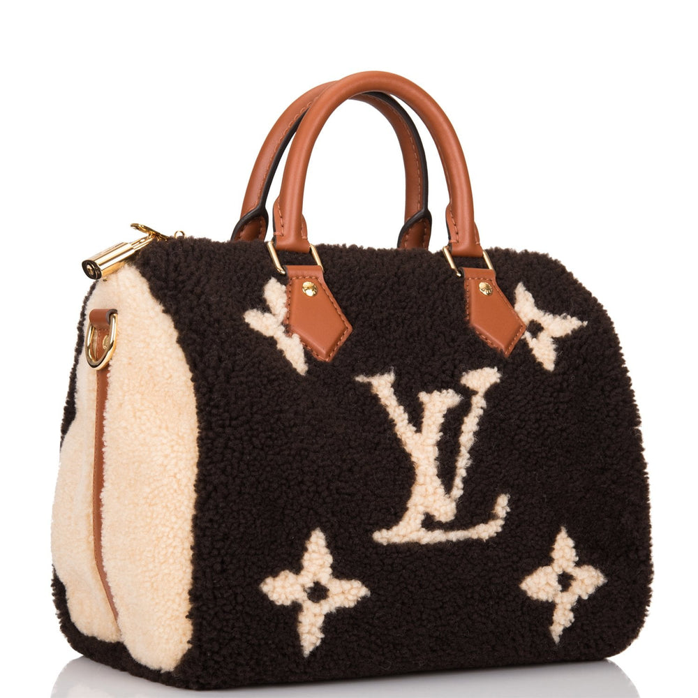 Louis Vuitton Teddy Monogram Shearling Speedy 25 Bandouliere
