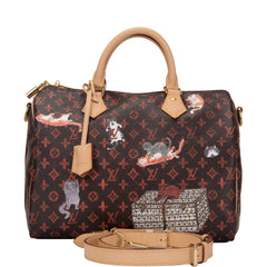 Louis Vuitton x Grace Coddington Monogram Catogram Speedy 30 Bandouliere