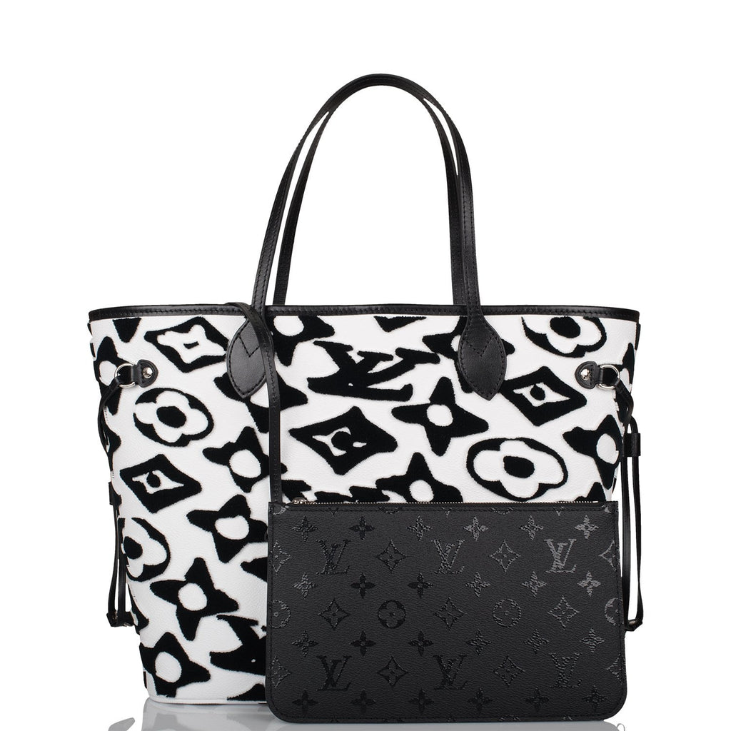 Louis Vuitton x UF Black and White Tufted Monogram Neverfull MM