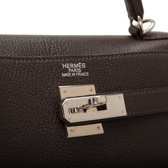 Hermes Ebene Chevre de Coromandel Kelly 35cm (Preloved - Excellent)